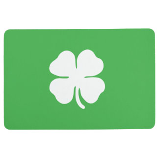 White Clover Leaf Floor Mat