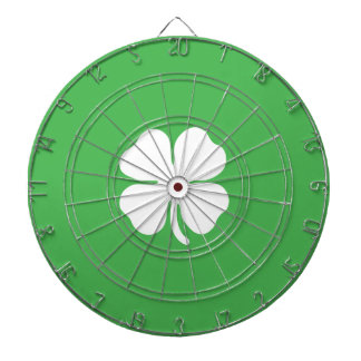 White Clover Leaf Metal Cage Dartboard