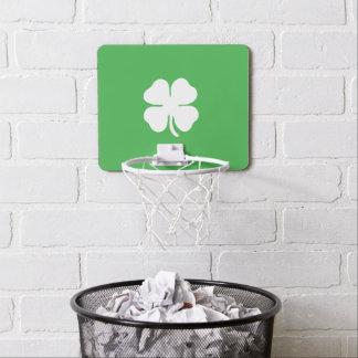 White Clover Leaf Mini Basketball Goal Mini Basketball Hoop