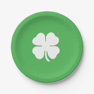White Clover Leaf Paper Plates 7 Inch Paper Plate