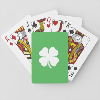 White Clover Leaf Playing Cards