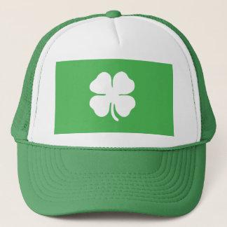 White Clover Leaf Trucker Hat