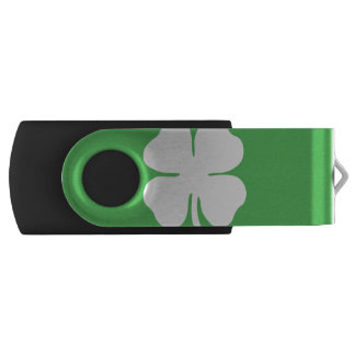White Clover Leaf USB Flash Drive