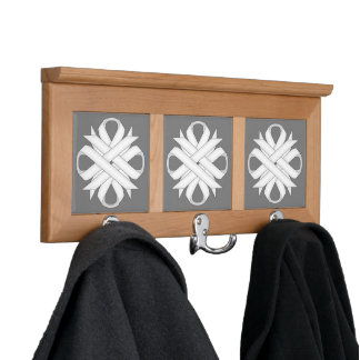 White Clover Ribbon by Kenneth Yoncich Coat Rack