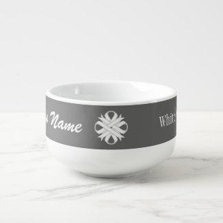 White Clover Ribbon by Kenneth Yoncich Soup Mug
