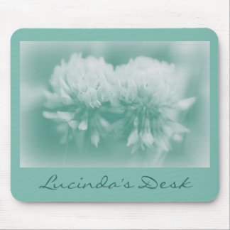 White Clover Wildflowers Mousepads