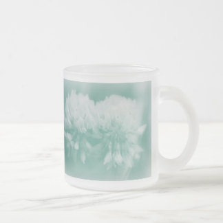 White Clover Wildflowers 10 Oz Frosted Glass Coffee Mug