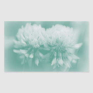 White Clover Wildflowers Rectangle Sticker