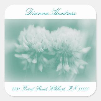 White Clover Wildflowers Square Sticker