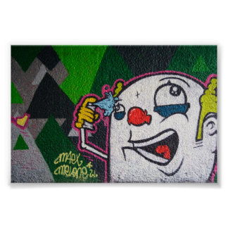 White Clown Poster