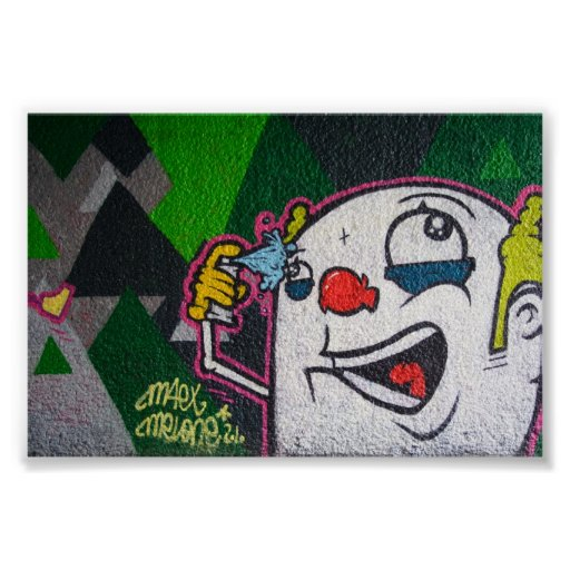 White Clown Print