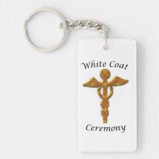 White Coat Ceremony Gold Medical, Custom Gift Double-Sided Rectangular Acrylic Key Ring