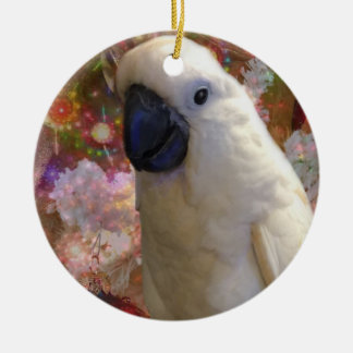White Cockatiel Holiday Ornament