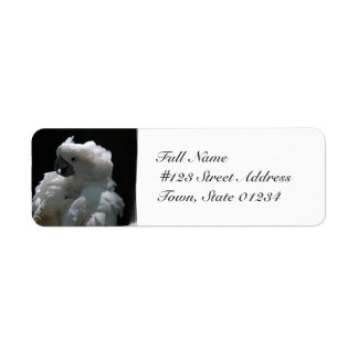 White Cockatoo Bird Mailing Labels