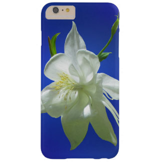 White Columbine on Blue Barely There iPhone 6 Plus Case