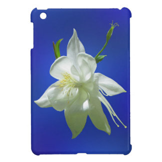 White Columbine on Blue iPad Mini Case