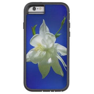 White Columbine on Blue Tough Xtreme iPhone 6 Case