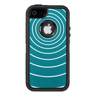 White Concentric Circles OtterBox iPhone 5/5s/SE Case