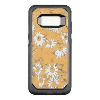 White Cone Flowers with Orange Background OtterBox Commuter Samsung Galaxy S8 Case