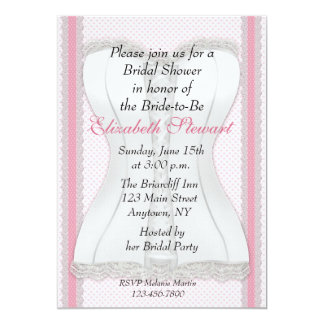 White Corset Bridal Shower Card