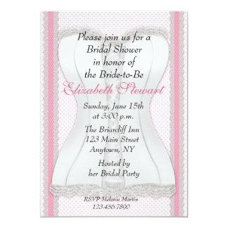 White Corset Bridal Shower Personalized Announcements