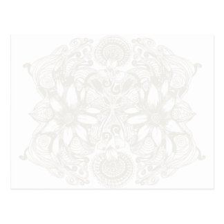 White Cosmic Floral Explosion Postcard