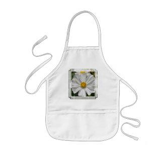 White Cosmos Flower Small Apron