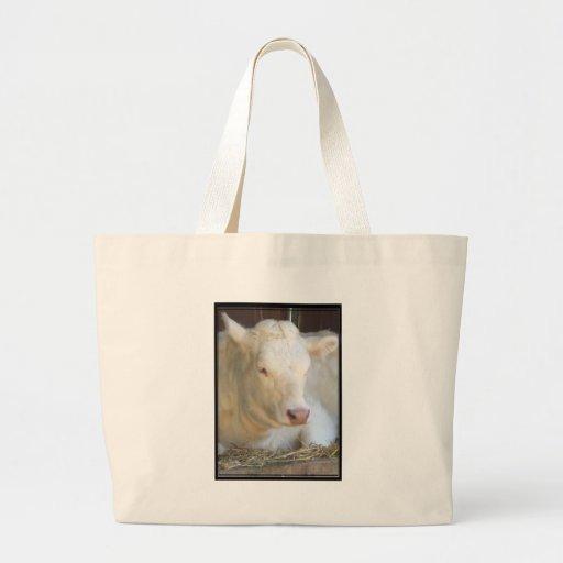 White Cow Tote Bag