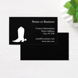 White Cowboy Boot Business Card