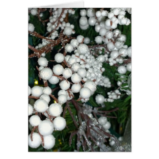 White Cranberry Christmas Card