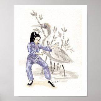 White Crane Kung Fu Poster