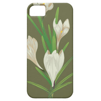 White Crocus Flowers 2 Barely There iPhone 5 Case