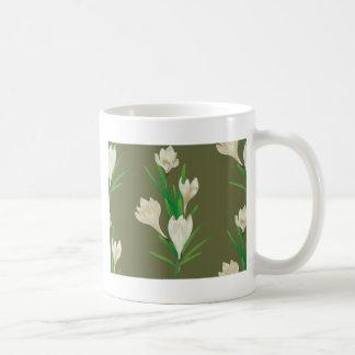 White Crocus Flowers 2 Coffee Mug
