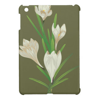White Crocus Flowers 2 Cover For The iPad Mini