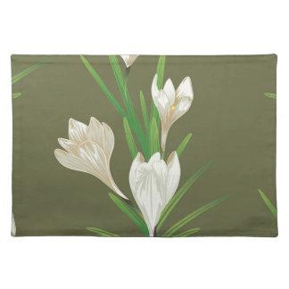 White Crocus Flowers 2 Placemat