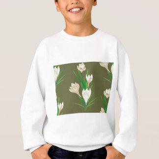 White Crocus Flowers 2 Sweatshirt