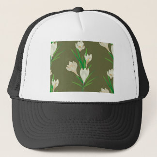 White Crocus Flowers 2 Trucker Hat