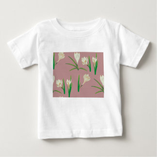White Crocus Flowers Baby T-Shirt