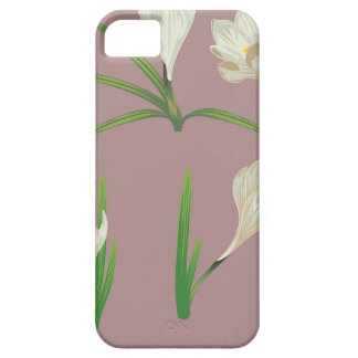 White Crocus Flowers Barely There iPhone 5 Case