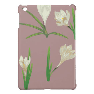 White Crocus Flowers iPad Mini Covers
