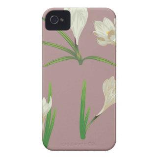 White Crocus Flowers iPhone 4 Case