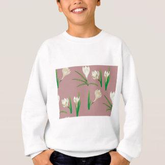 White Crocus Flowers Sweatshirt