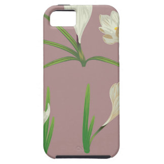White Crocus Flowers Tough iPhone 5 Case