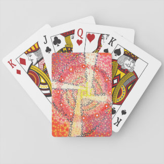 White cross - Abstract Party cards