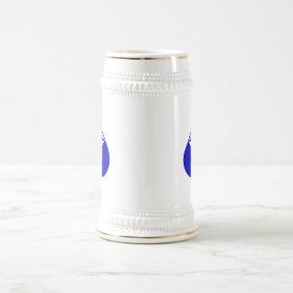 White Cross in Blue Teardrop Coffee Mug
