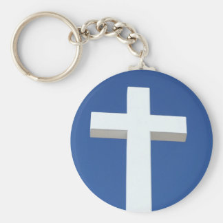 White Cross Keychains