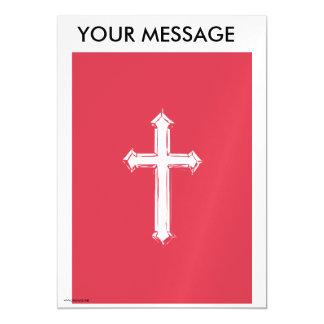 White cross magnetic invitations