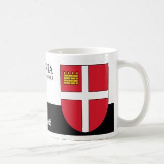White Cross on Red Shield from Iksķile Latvia Coffee Mug