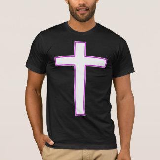 White cross tee shirt