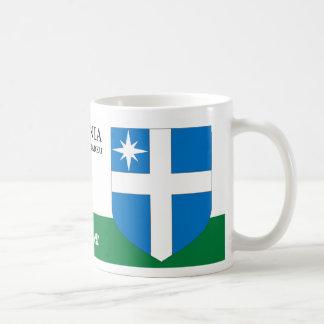 White Cross with a Star Shield from Harku Estonia Coffee Mug